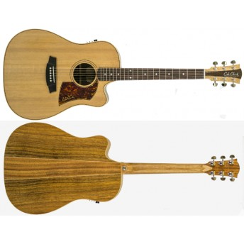 COLE CLARK – FAT LADY 2 – CEDAR/BLACKWOOD CUTAWAY DREADNOUGHT GUITAR