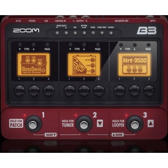 ZOOM – B3 – BASS MULTI EFFECTS & AMP SIMULATION PROCESSOR