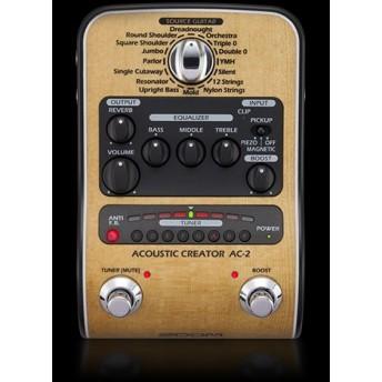 ZOOM – AC-2 – ACOUSTIC CREATOR DI & GUITAR MODELLING PROCESSOR