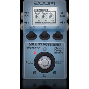 ZOOM – MS-70CDR – CHORUS DELAY REVERB PEDAL