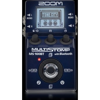 ZOOM – MS-100BT – MULTISTIOMP GUITAR MULTI EFFECTS PEDAL WITH BLUETOOTH