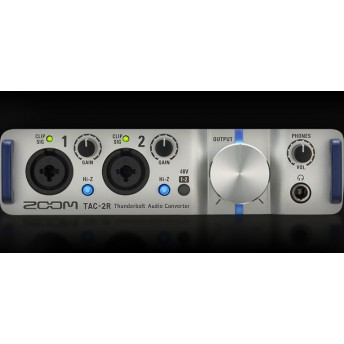 ZOOM – TAC-2R – 2-CHANNEL THUNDERBOLT AUDIO CONVERTER WITH CUBASE LE