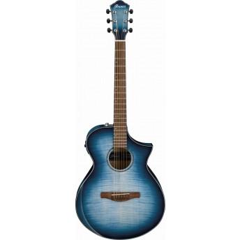 Ibanez AEWC400 IBB Acoustic Electric Guitar Transparent Indigo Blue Burst High Gloss 2019