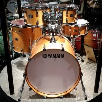 Yamaha Absolute Hybrid Maple 5 Piece Drum Kit with Hardware - Vintage Natural Finish