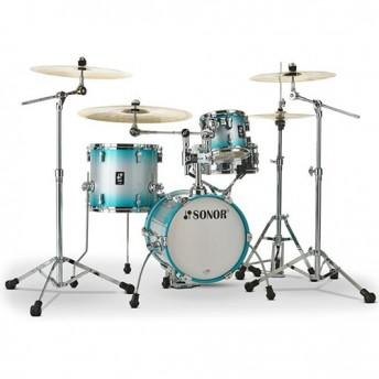 "Sonor AQ2 Martini 4 Piece 14"" Maple Drum Kit Shell Set - Aqua Silver Burst"