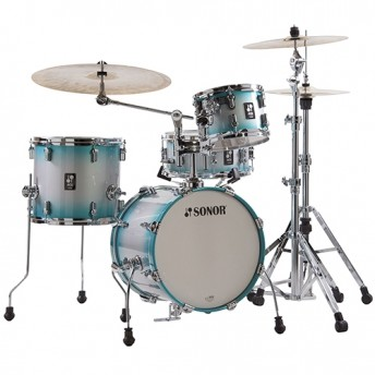 "Sonor AQ2 Safari 4 Piece 16"" Maple Drum Kit Shell Set - Aqua Silver Burst"