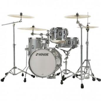 """Sonor AQ2 Safari 4 Piece 16"""" Maple Drum Kit Shell Set - Titanium Quartz"""