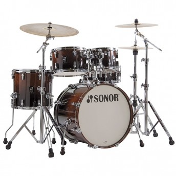 """Sonor AQ2 Stage 5 Piece 22"""" Maple Drum Kit with Hardware - Brown Fade"""