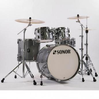"""Sonor AQ2 Studio 5 Piece 20"""" Maple Drum Kit with Hardware - Titanium Quartz"""