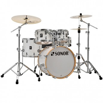 "Sonor AQ2 Studio 5 Piece 20"" Maple Drum Kit with Hardware - White Pearl"