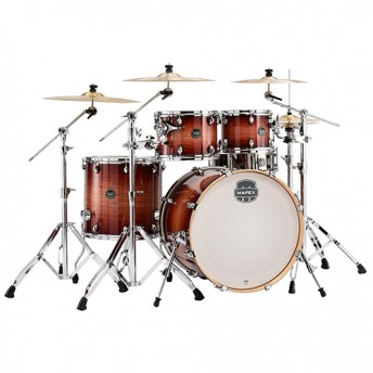 Mapex Armory 5 Piece Drum Kit with Chrome Hardware Set - Redwood Burst