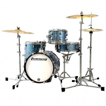 Ludwig Breakbeats Questlove 4 Piece Drum Shell Kit Vintage Azure Blue Sparkle
