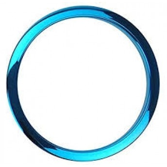 "BASS DRUM O – 6"" BLUE BD PORT HOLE"
