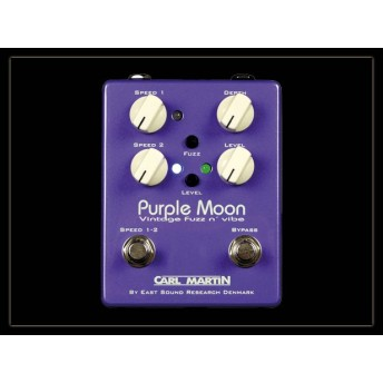 Carl Martin Purple Moon Analogue Dual Speed Vibe with Fuzz Guitar Pedal