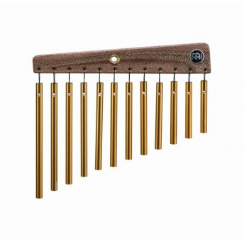 Meinl - Gold Anodized Aluminium Alloy Single Row Chimes - 12 Bars