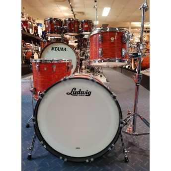LUDWIG – CLASSIC MAPLE CUSTOM 3 PIECE DRUM KIT SHELL SET – MOD ORANGE