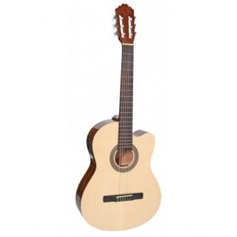 Samick Concert Classic Cutaway Electric Acoustic Natural Guitar