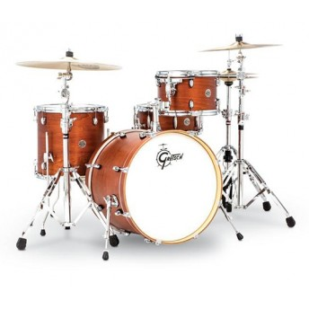 "Gretsch Catalina Club 20"" Classic 4 Piece Drum Kit Shell Set - Satin Walnut Glaze"