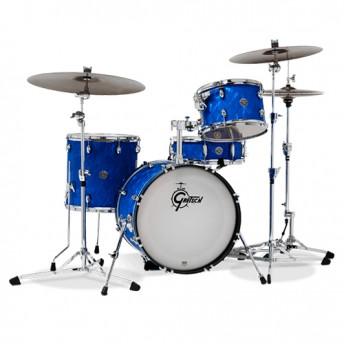"Gretsch Catalina Club Jazz 4 Piece Drum Kit Shell Set 18"" - Blue Satin Flame"