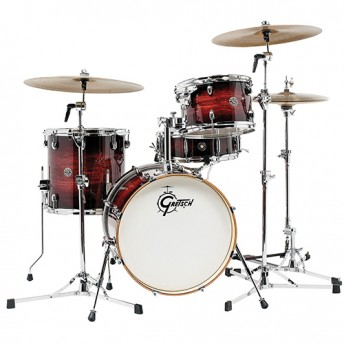 "Gretsch Catalina Club Jazz 4 Piece Drum Kit Shell Set 18"" - Gloss Antique Burst"