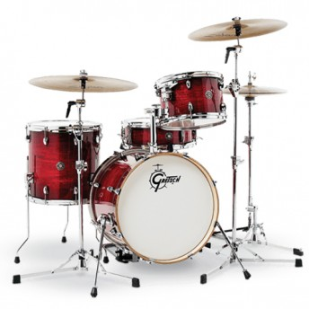"Gretsch Catalina Club Jazz 4 Piece Drum Kit Shell Set 18"" - Gloss Crimson Burst"