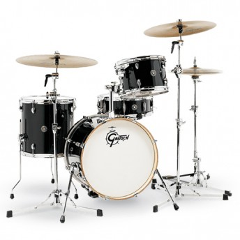 "Gretsch Catalina Club Jazz 4 Piece Drum Kit Shell Set 18"" - Piano Black Finish"