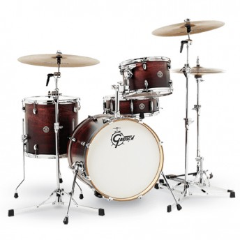 "Gretsch Catalina Club Jazz 4 Piece Drum Kit Shell Set 18"" - Satin Antique Fade"