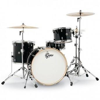 "Gretsch Catalina Club 24"" Rock 4 Piece Drum Kit Shell Set - Piano Black"