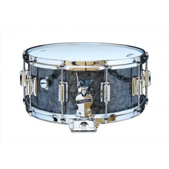 Rogers Dyna-Sonic Beavertail Snare Drum Model No. 37-BP Black Diamond Pearl