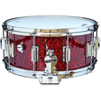 Rogers Dyna-Sonic Beavertail Snare Drum Model No. 37-RO Red Onyx