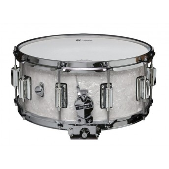 Rogers Dyna-Sonic Beavertail Snare Drum Model No. 37-WMP White Marine Pearl