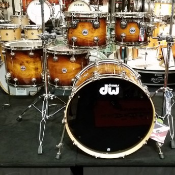 DW Collectors Series 5 Piece Drum Kit Shell Set - Exotic Rich Tobacco Burst Over Elm Cluster