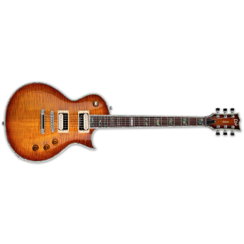 LTD LEC-1000FMASB EC Series EC-1000FM Flamed Maple Amber Sunburst Electric Guitar