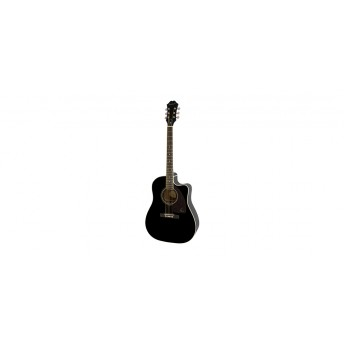 Epiphone AJ-220SCE Solid Top Ac/Electric Ebony