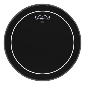 "Remo ES-0612-PS 12"" Pinstripe Ebony Drum Head Skin"