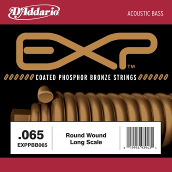 D'ADDARIO – EXPPBB065 COATED PHOSPHOR BRONZE ACOUSTIC LONG SCALE – .065