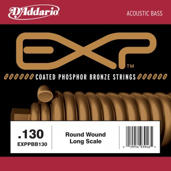 D'ADDARIO – EXPPBB130 COATED PHOSPHOR BRONZE ACOUSTIC LONG SCALE – .130