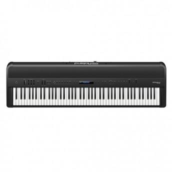 Roland FP-90 Digital Piano Kit Black w/ Stand & Pedal Board