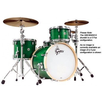 GRETSCH – GBE804SEG – BROOKLYN SERIES – 5-PCE SHELL PACK – SATIN EMERALD GREEN