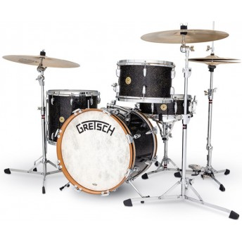 GRETSCH – GBKJ404VASP – BROADKASTER USA SERIES – 4-PCE SHELL PACK CLASSIC JAZZ KIT – ANNIVERSARY SPARKLE NITRON