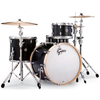 GRETSCH – GBR843SDE – BROOKLYN SERIES – 4-PCE SHELL PACK – SATIN DARK EBONY