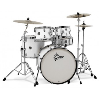 GRETSCH – GE3E825W – ENERGY SERIES ROCK 5-PCE DRUM KIT WITH HARDWARE – WHITE