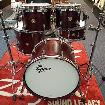 "Gretsch USA Custom 5 Piece Drum Kit 22"" Shell Set - Satin Cherry Red"