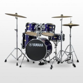 YAMAHA  - MANU KATCHE JUNIOR DRUM KIT 5 PIECE SHELL PACK - DEEP VIOLET