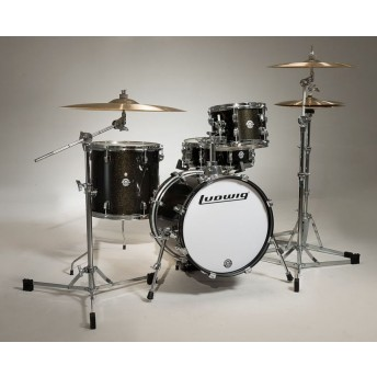 Ludwig Breakbeats Questlove 4 Piece Drum Shell Kit Black Gold Sparkle