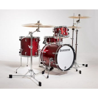 Ludwig Breakbeats Questlove 4 Piece Drum Shell Kit Wine Red Sparkle