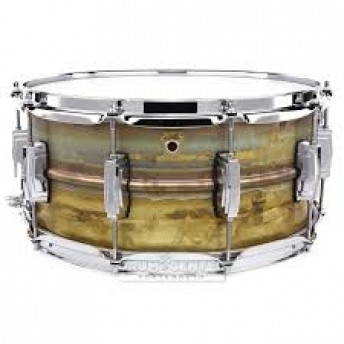 "Ludwig Raw Brass Phonic LB464R 6.5x14"" Raw Brass Shell with Imperial Lugs"