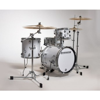 Ludwig Breakbeats Questlove 4 Piece Drum Shell Kit White Sparkle