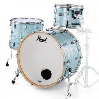 "Pearl Masters Maple Complete 3 Piece Drum Kit 22"" x 16"" Shell Set - Ice Blue Oyster Finish"