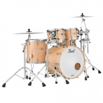 "Pearl Masters Maple Complete 4 Piece Drum Kit 22"" x 18"" Shell Set - Matte Natural Finish"